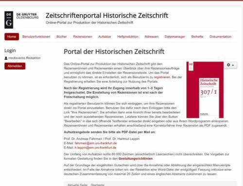 Portal der Historischen Zeitschrift