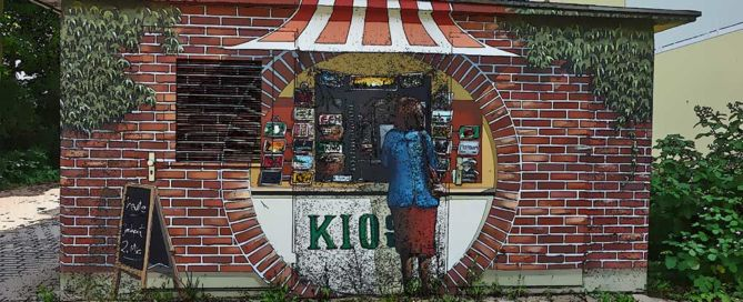 "Graffiti ""Kiosk"" – Berlin"