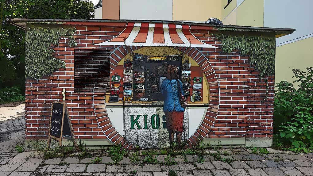 """Graffiti """"Kiosk"""" – Berlin"""