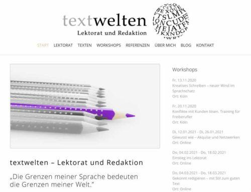 textwelten – Lektorat und Redaktion